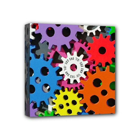 Colorful Toothed Wheels Mini Canvas 4  x 4