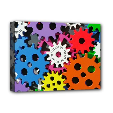 Colorful Toothed Wheels Deluxe Canvas 16  x 12