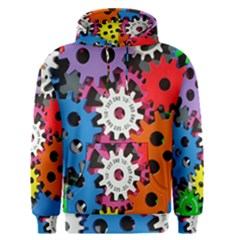 Colorful Toothed Wheels Men s Pullover Hoodie