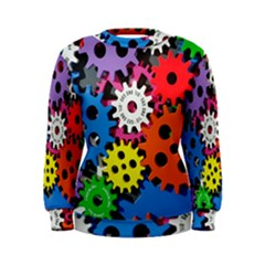 Colorful Toothed Wheels Women s Sweatshirt