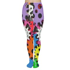 Colorful Toothed Wheels Women s Tights