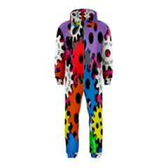 Colorful Toothed Wheels Hooded Jumpsuit (kids)
