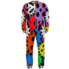 Colorful Toothed Wheels OnePiece Jumpsuit (Men)