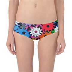 Colorful Toothed Wheels Classic Bikini Bottoms