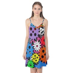 Colorful Toothed Wheels Camis Nightgown
