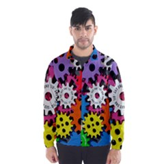 Colorful Toothed Wheels Wind Breaker (Men)