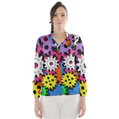 Colorful Toothed Wheels Wind Breaker (Women)