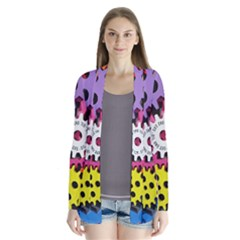 Colorful Toothed Wheels Cardigans