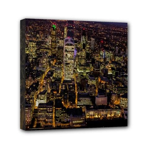 City Glass Architecture Windows Mini Canvas 6  x 6