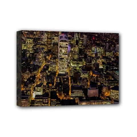 City Glass Architecture Windows Mini Canvas 7  x 5