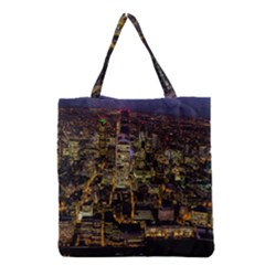City Glass Architecture Windows Grocery Tote Bag