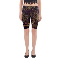 City Glass Architecture Windows Yoga Cropped Leggings