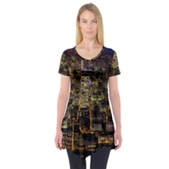 City Glass Architecture Windows Short Sleeve Tunic
