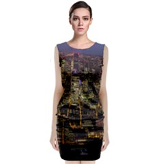 City Glass Architecture Windows Classic Sleeveless Midi Dress