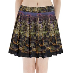 City Glass Architecture Windows Pleated Mini Skirt