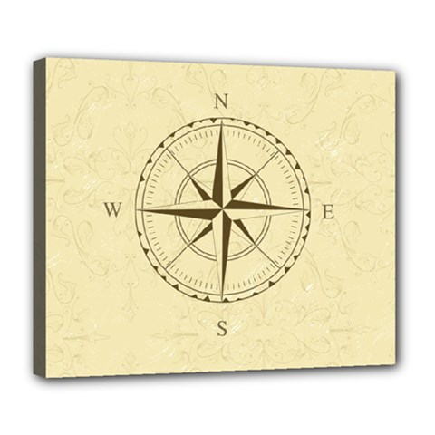 Compass Vintage South West East Deluxe Canvas 24  x 20