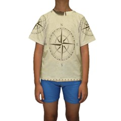 Compass Vintage South West East Kids  Short Sleeve Swimwear