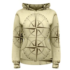 Compass Vintage South West East Women s Pullover Hoodie