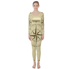 Compass Vintage South West East Long Sleeve Catsuit