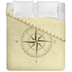 Compass Vintage South West East Duvet Cover Double Side (california King Size)