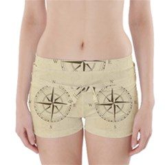 Compass Vintage South West East Boyleg Bikini Wrap Bottoms
