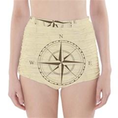 Compass Vintage South West East High-Waisted Bikini Bottoms