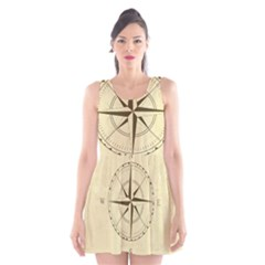 Compass Vintage South West East Scoop Neck Skater Dress