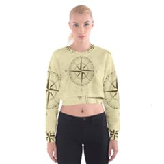 Compass Vintage South West East Women s Cropped Sweatshirt