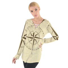 Compass Vintage South West East Women s Tie Up Tee