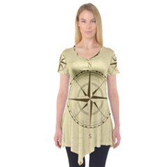 Compass Vintage South West East Short Sleeve Tunic