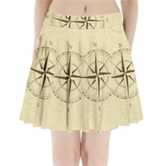 Compass Vintage South West East Pleated Mini Skirt