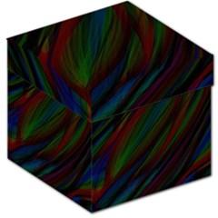 Dark Background Pattern Storage Stool 12