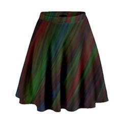 Dark Background Pattern High Waist Skirt