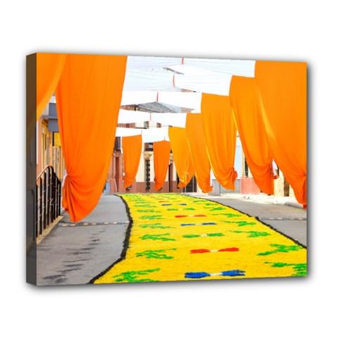 Corpus Torrenueva Procession Canvas 14  X 11