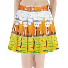 Corpus Torrenueva Procession Pleated Mini Skirt