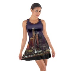 Dallas Texas Skyline Dusk Cotton Racerback Dress
