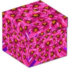 Dahlia Flowers Pink Garden Plant Storage Stool 12