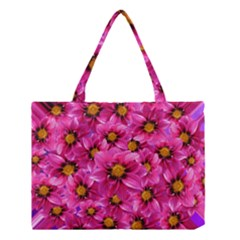 Dahlia Flowers Pink Garden Plant Medium Tote Bag