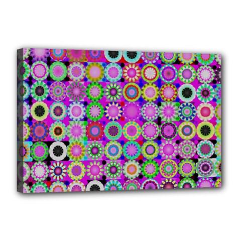 Design Circles Circular Background Canvas 18  X 12