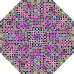 Design Circles Circular Background Hook Handle Umbrellas (Medium)
