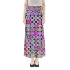 Design Circles Circular Background Maxi Skirts