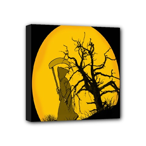 Death Haloween Background Card Mini Canvas 4  x 4