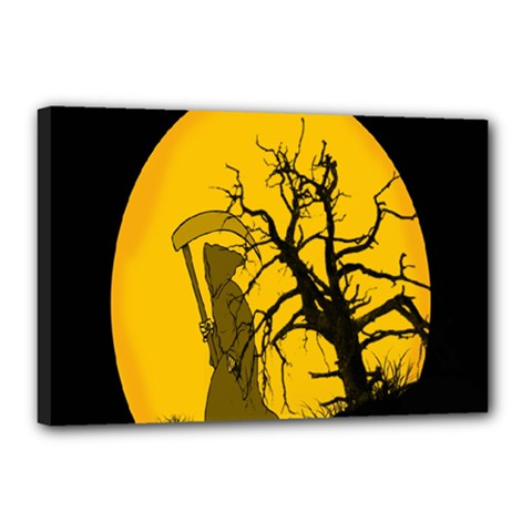 Death Haloween Background Card Canvas 18  x 12