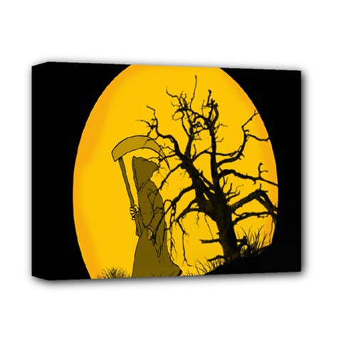 Death Haloween Background Card Deluxe Canvas 14  x 11