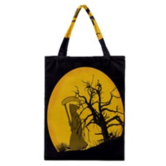 Death Haloween Background Card Classic Tote Bag