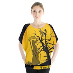 Death Haloween Background Card Blouse