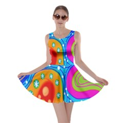 Doodle Pattern Skater Dress