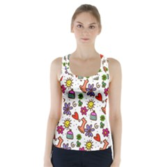 Doodle Wallpaper Racer Back Sports Top