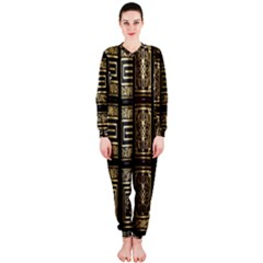 Detail Golden Gold Ornaments OnePiece Jumpsuit (Ladies)