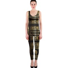 Detail Golden Gold Ornaments OnePiece Catsuit
